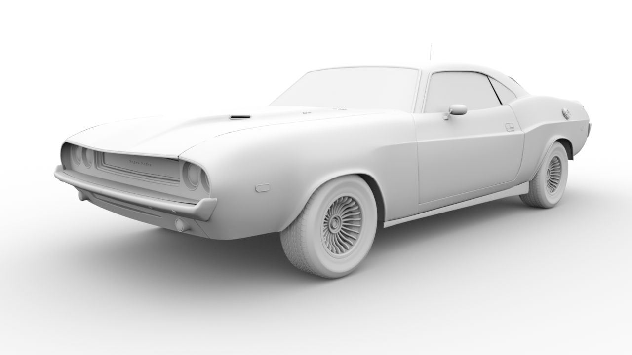 Ambient Occlusion Muscle Car
